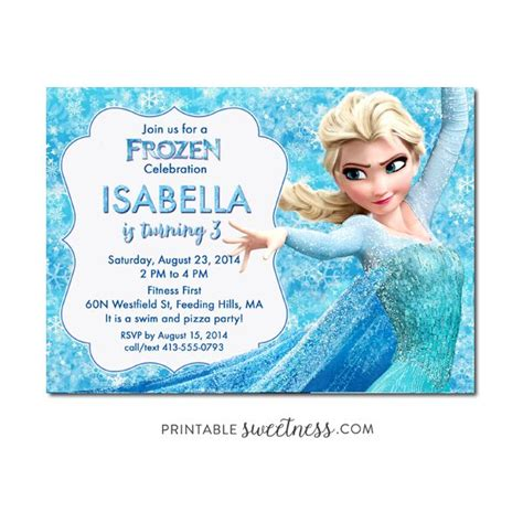 printable elsa invitations 53 best frozen birthday invitations images on pinterest