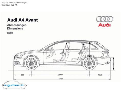 Abmessung Audi A4 Avant foto bild audi a4 avant abmessungen angurten de