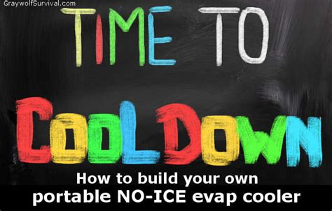 time to build build your own diy 5 gallon bucket no ice evap air conditioner