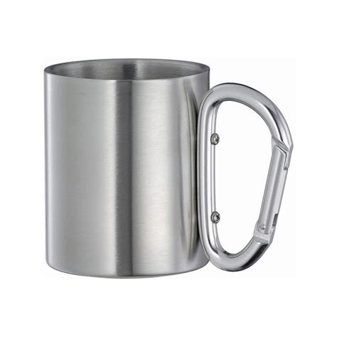 Gelas Carabiner Wall Cangkir Stainless Mug Travel 220ml isolating travel mug cup w aluminium carabiner hook handle quality fashion new