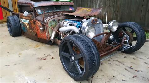 1931 ford model a rat rod with a 2jz engine