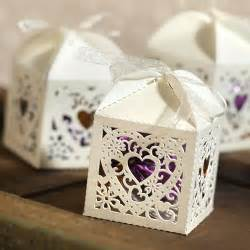 Boxing Favors by Filigree Favor Box Ivory 25 Pcs Ivory Wedding Favor