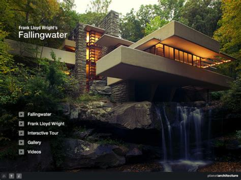 Log Home Floor Plans by Frank Lloyd Wright S Fallingwater Ipad App Archdaily