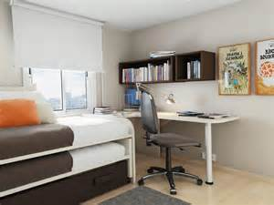 Bedroom design small bedroom ideas with bunk bed and study desk and bookcase glubdubs
