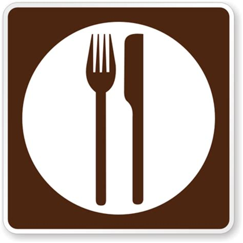 the color of a motorist service sign is motorist services sign food symbol rm 050 sku x rm 050