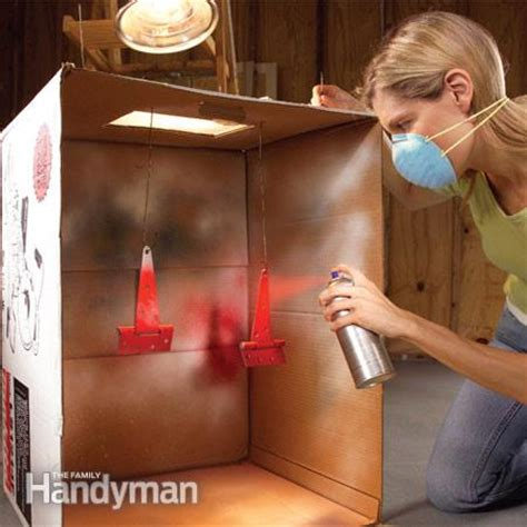 spray paint on cardboard mess free painting tips the family handyman