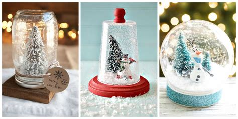 Handmade Snow Globes - 13 diy snowglobes that will get you excited for