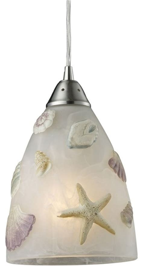 Beachy Pendant Lights Seashore Satin Nickel Pendant By Elk 20000 1 Style Pendant Lighting Miami By