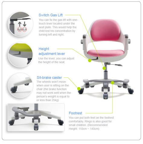 spine korean chair ergonomic chair with adjustable back fursys ringo