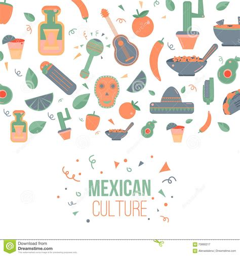 language setting pattern used in society mexican culture set vector illustration cartoondealer