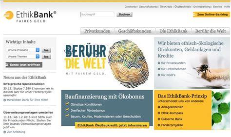 ethische bank ethikbank testbericht erfahrungen 2016 onlinebanken