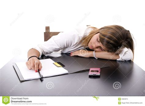 business sleeping on the desk royalty free