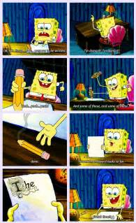 Spongebob Essay Episode Cut by My Work On My Research Paper Right Now Things Writing An Essay Research