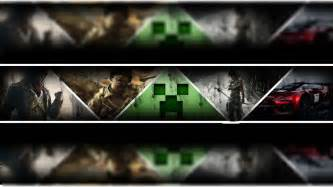 youtube banner template gaming images