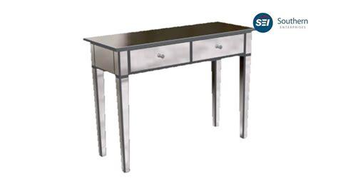 sei mirage mirrored 2 drawer console table cm9163r mirage mirrored 2 drawer console table assembly