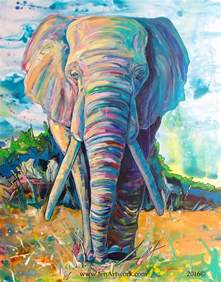 colorful elephant painting 25 best ideas about elephant paintings on