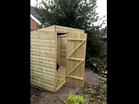 diy   build  pent shed youtube
