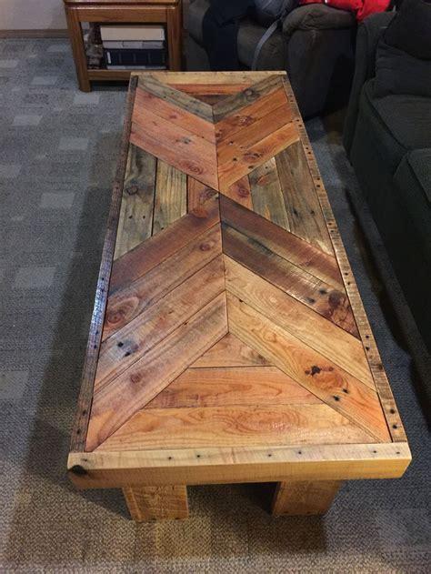 coffee table   pallet wood   pocket holes