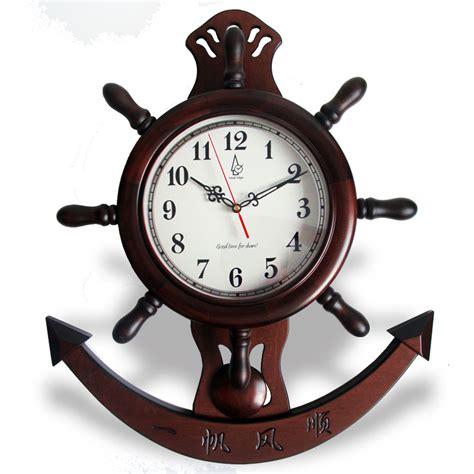 home decor mute quartz wall clock retro roman numerals mute wood wall clock pendulum clock chinese sailing style