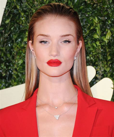 how to get a slicked back look women with her hair slicked back rosie huntington whiteley s
