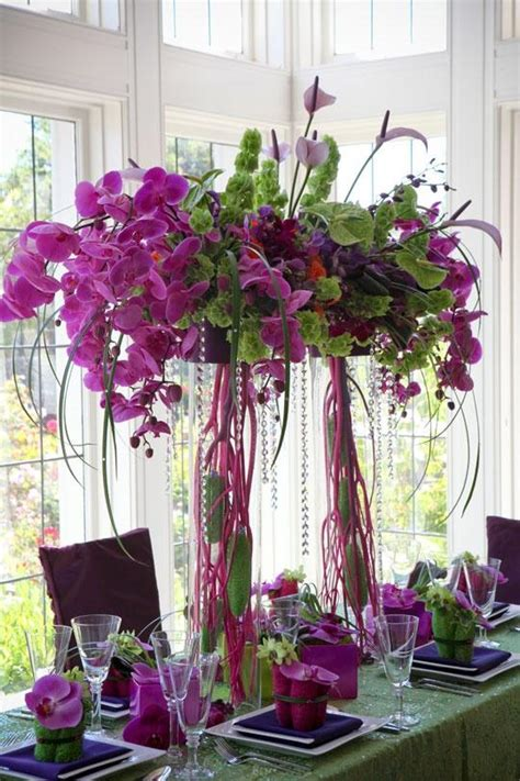 beautiful centerpieces purple wedding beautiful centerpiece 2065526 weddbook