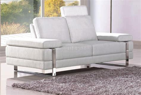 white fabric sofas white fabric modern 7095 sofa w optional loveseat chair