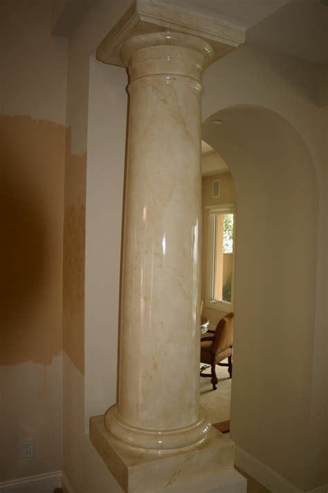 faux marble painted column paint stencils make - Faux Painted Columns