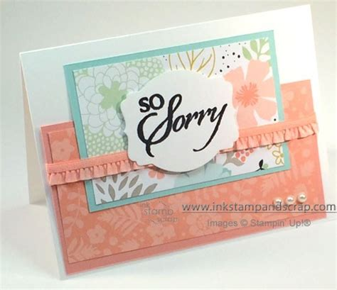 Sorry Cards Handmade - sweet sorbet handmade sympathy card ink st and scrap