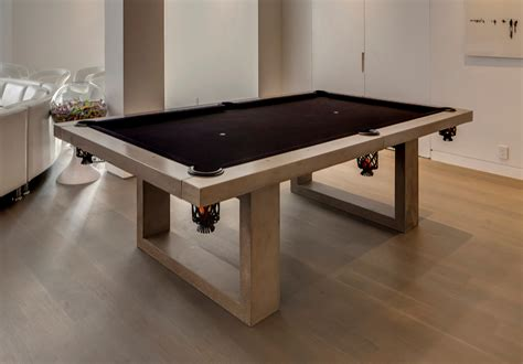 concrete pool table by dewulf
