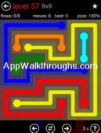 100 Floors Free Level 57 by Flow Free Answers Flow Free 9x9 Mania 60 Flow Free Answers