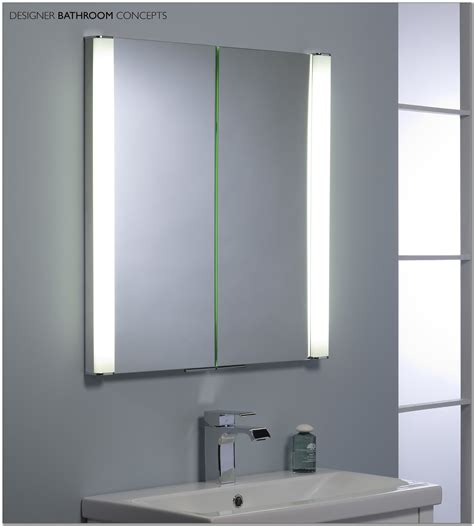 Illuminated Bathroom Mirror Cabinets Battery Led Illuminated Bathroom Mirror Cabinet Cabinet Home Design Ideas 2x7w0xxjvd