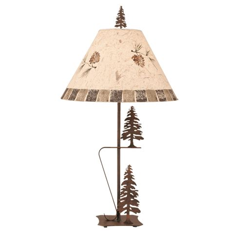 pine cone l shade cauterized steel tree duo l with pine cone shade