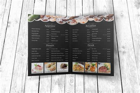 modern restaurant menu template  geelator graphicriver