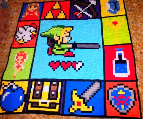 quilt pattern zelda handcrafted legends of zelda fabric geekery quilt size