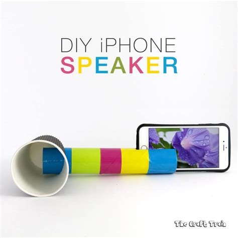 How To Make A Paper Iphone That Works - diy iphone speaker to learn about sound the craft