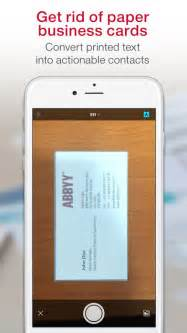 business card scan app for iphone business card scanner pro on the app store