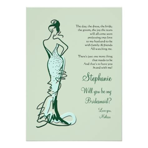 Be My Bridesmaid Card Template by Will You Be My Bridesmaid Cards Zazzle