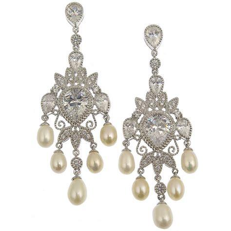 pearl chandelier bridal earrings chandelier freshwater pearl bridal earrings eliana