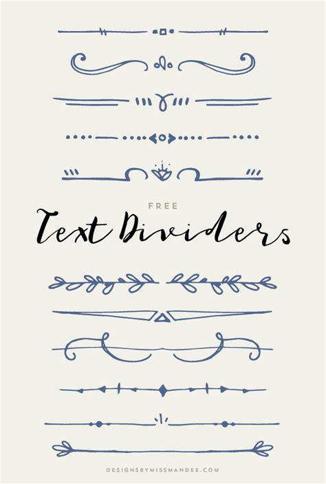 design journal text text dividers stationary design free text and divider