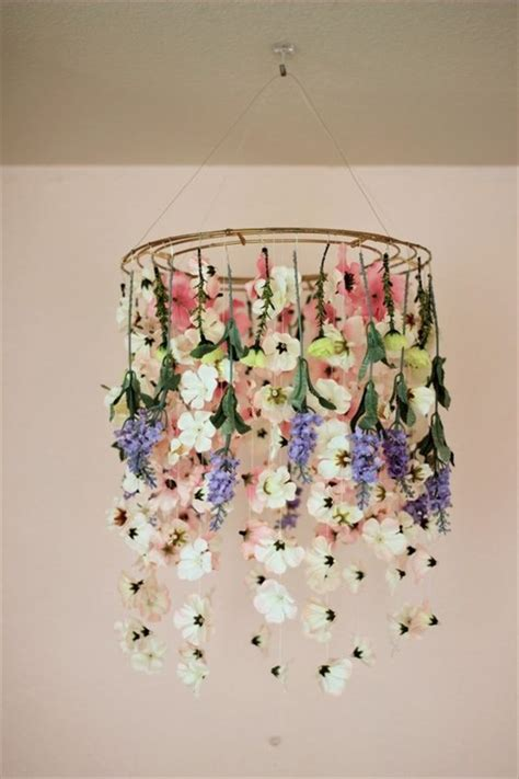 Floral Chandelier Diy Beautiful And Charming Floral Chandelier You Will To See Diy Home Decor