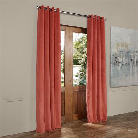 Orange Velvet Curtains Home Decorators Collection Hdc Velvet Lined Back Tab Curtain Taupe 50 In W X 108 In L