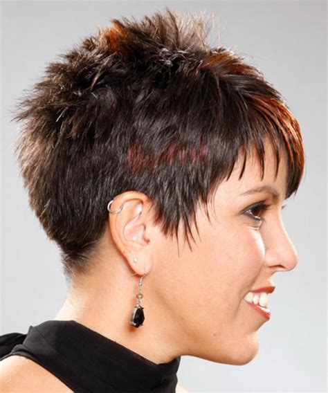 short hayles shorter on one side and spikey very short hairstyles back view hair and more