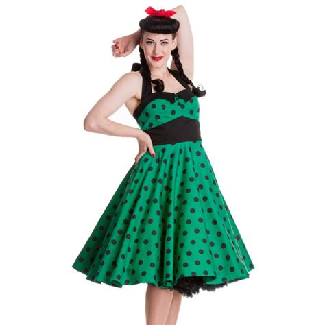 hell bunny swing dress hell bunny adelaide polka dot 50s style green swing dress