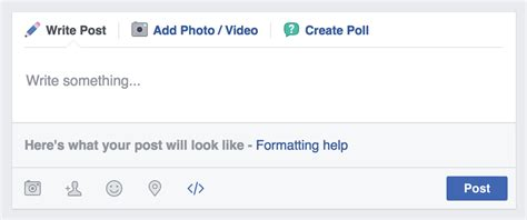 format video on facebook tip format text with markdown and increase the
