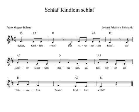 Schlaf Kindlein Schlaf Kinderlieder Noten Text
