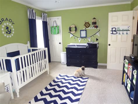 Green Nursery Decor Green And Navy Nautical Nursery Project Nursery