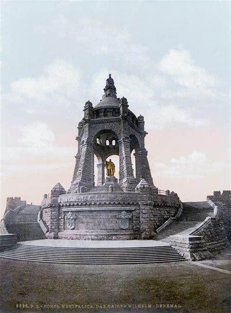 Um Search File Porta Westfalica Das Kaiser Wilhelm Denkmal Um 1895 Jpg Wikimedia Commons