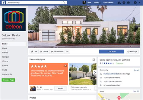 How To Set Up Your Real Estate Facebook Page To Get More Leads Real Estate Page Template