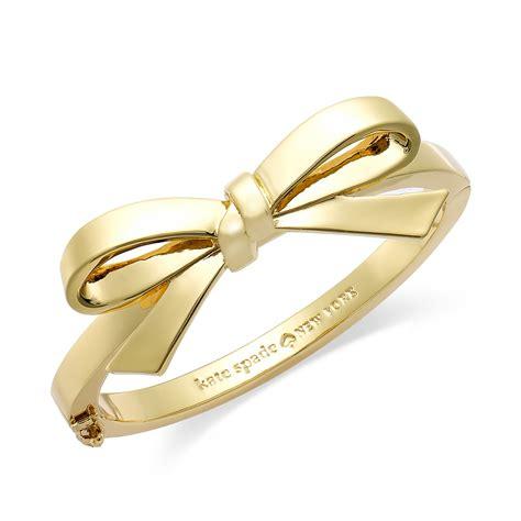 Kate Spade New York Goldtone Bow Hinge Bangle Bracelet in Gold (No Color)   Lyst