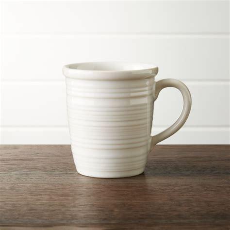 farmhouse white mug reviews crate  barrel